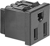 Panel-Mount Straight-Blade Receptacles