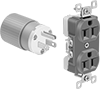 Interference-Limiting Straight-Blade Receptacles and Plugs