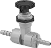 Precision Flow-Adjustment Valves with Barbed Fittings