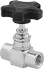 Panel-Mount Threaded Precision Flow-Adjustment Valves