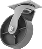 Extra-High-Capacity Trash-Container Casters with Metal Wheels