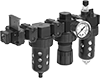 Parker Modular Compressed Air Filter/Regulator/Lubricators (FRLs)