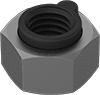 High-Strength Steel Extra-Wide Steel-Insert Locknuts for Extreme Vibration—Grade 8