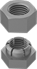 Two-Piece Thread-Clamping Locknuts for Extreme Vibration