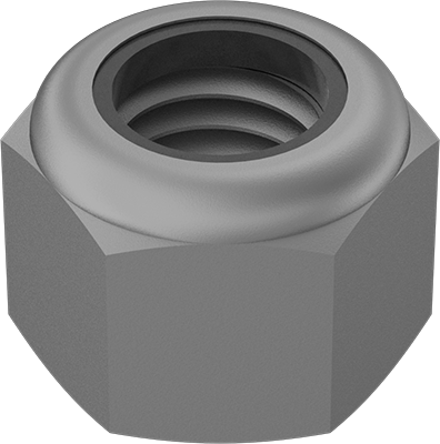 Carbon Steel White Zinc Plated Pack of 5 MroMax M16 x 2mm Nylon Insert Hex Lock Nuts