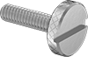 Slotted Stainless Steel Low-Profile Knurled-Head Thumb Screws