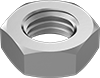Left-Hand Threaded Super-Corrosion-Resistant 316 Stainless Steel Thin Hex Nuts