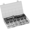 Tapered Heat-Set Insert Assortments for Plastic with Installation Tools