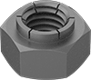Steel Extra-Wide Flex-Top Locknuts for Heavy Vibration