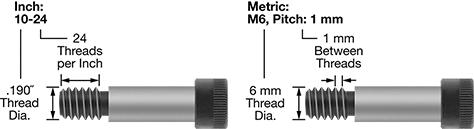 6 Mm Shoulder Dia,Precision 416 Stainless Steel 30 Mm Shoulder Length,2041000818 Shoulder Screw