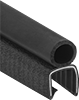 Water- and Weather-Resistant Hollow Foam Rubber Push-On Seals with Bulb on Top
