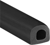 Water- and Weather-Resistant Hollow Rubber Surface-Mount Seals