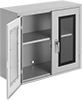 Wall-Mount Shelf Cabinets with Clear-View Doors