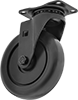 Black Powder-Coated Steel Casters with Polypropylene Wheels