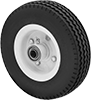 Solid-Tread Flat-Free Wheels
