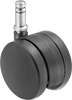 Light Duty Furniture Friction-Grip Stem Casters with Nylon Wheels