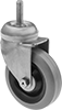 Corrosion-Resistant Threaded-Stem Casters with Rubber Wheels
