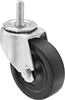 Threaded-Stem Casters with Rubber Wheels