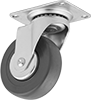 Debris-Guard Casters with Rubber Wheels