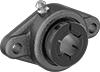 High-Speed Mounted Ball Bearings with Two-Bolt Flange