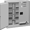 Bench-Height Safety Cabinets for Flammables in 1-Gallon Cans