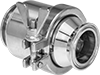 Check Valves with Sanitary Quick-Clamp Fittings for Food and Beverage