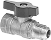 On/Off Valves with 45° Flared Compression Fittings for Natural Gas, Propane, and Butane