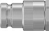 High-Pressure Minimal-Spill Quick-Disconnect Hose Couplings for Hydraulic Fluid
