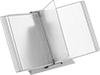 Freestanding Easy-Flip Display Binders with Silver Ion Finish