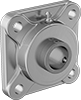 Washdown Mounted Ball Bearings with Four-Bolt Flange