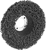 Nylon Mesh Cushioned Arbor-Mount Sanding Discs for Stainless Steel and Hard Metals