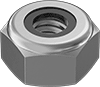 18-8 Stainless Steel Extra-Wide Thin Nylon-Insert Locknuts