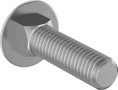 Square Neck 304 Stainless Steel M10x25mm Silver Tone 8Pcs Round Head MroMax Carriage Bolts Neck Carriage Bolt