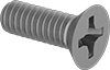 Titanium Phillips Flat Head Screws