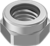Metric Low-Profile Low-Strength Steel Nylon-Insert Locknuts