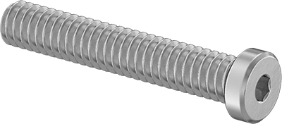 316 Stainless Steel Low-Profile Socket Head Screw Super-Corrosion-Resistant Thread Size M8-1.25