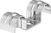 Two-Line Routing Clamps