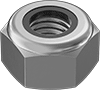 Super-Corrosion-Resistant 316 Stainless Steel Extra-Wide Thin Nylon-Insert Locknuts