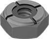 Mil. Spec. Low-Strength Steel Thin Nylon-Insert Locknuts