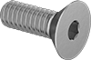 Brass Hex Drive Flat Head Screws