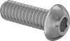 Brass Button Head Hex Drive Screws