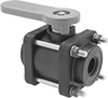Easy-Maintenance Threaded On/Off Valves for Chemicals