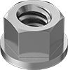 Stainless Steel Distorted-Thread Flange Locknuts
