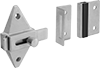 Slide-Bolt Toilet Partition Latches