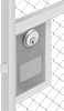 Deadbolt Locks for Swinging Wire Partition Doors