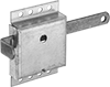 Spring-Loaded Padlockable Slide-Bolt Latches