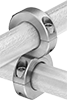 Stackable Threaded-Rod-Mount Clamping Hangers