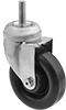 Threaded-Stem Casters with Polypropylene Wheels