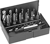 Hex-Shank Tap and Drill Bit Sets for Drills and Screwdrivers