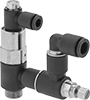 Air-Operated Air Flow Control Valves with Safety Shut-Off